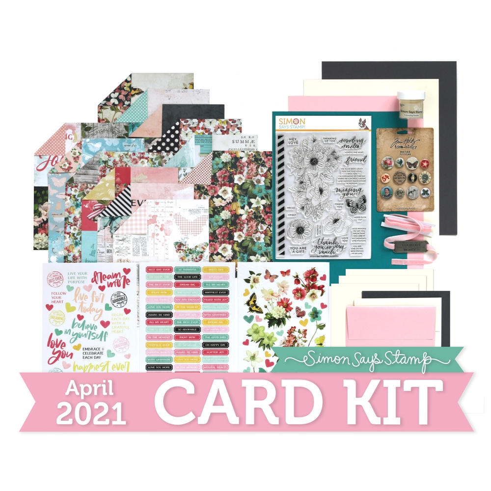 Simon Says Stamp Card Kit of the Month April 2021 FRIENDLY FLOWERS ck0421 zoom image
