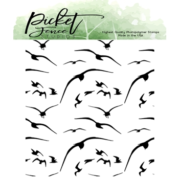 Picket Fence Studios BIRDS IN FLIGHT Clear Stamp a149