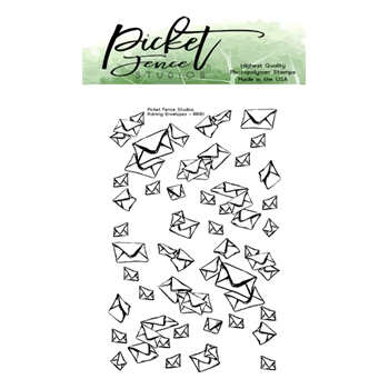 Picket Fence Studios RAINING ENVELOPES Clear Stamp bb161