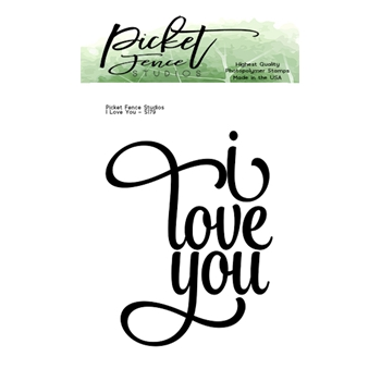Picket Fence Studios I LOVE YOU Clear Stamp s179*
