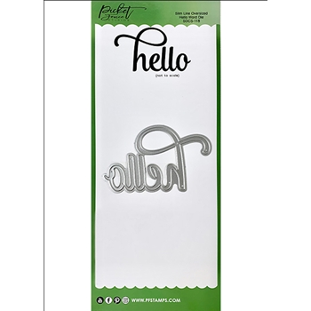 Picket Fence Studios OVERSIZED HELLO Word Slim Line Die sdcs118