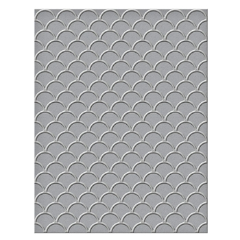SES 020 Spellbinders Embossing Folder SCALLOPS