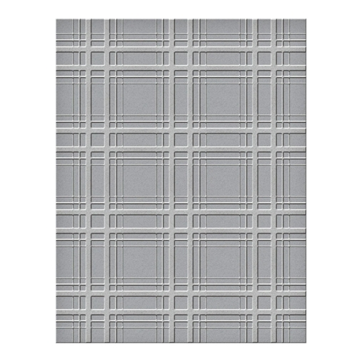 SES 018 Spellbinders Embossing Folder PLAID COMPANY Preview Image