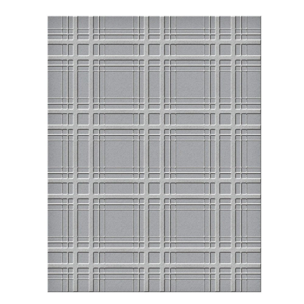 SES 018 Spellbinders Embossing Folder PLAID COMPANY zoom image