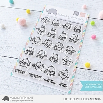 Mama Elephant Clear Stamps LITTLE SUPERHERO AGENDA