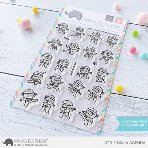 Mama Elephant Clear Stamps LITTLE NINJA AGENDA Preview Image