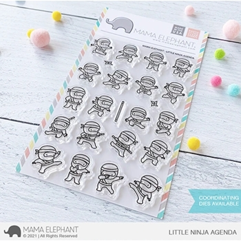 Mama Elephant Clear Stamps LITTLE NINJA AGENDA