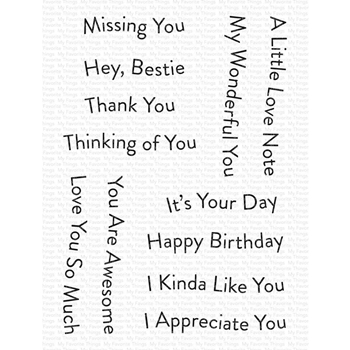 My Favorite Things BANNER DAY SENTIMENTS Clear Stamps cs556