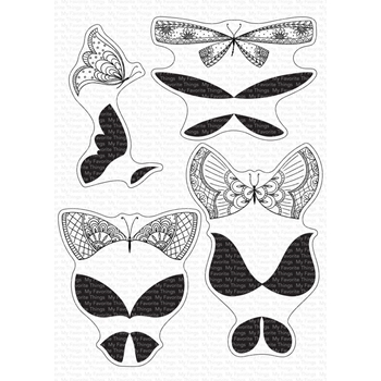 My Favorite Things MORE BRILLIANT BUTTERFLIES Clear Stamps cs552