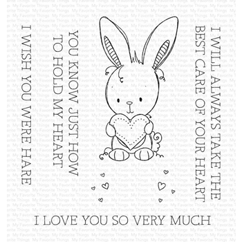 My Favorite Things WISH YOU WERE HARE Clear Stamps ram010