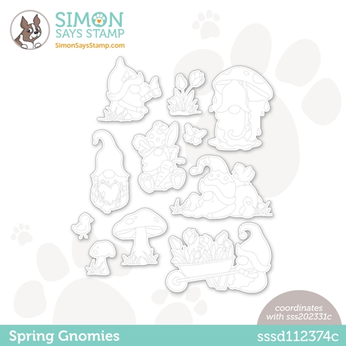 Simon Says Stamp SPRING GNOMIES Wafer Dies sssd112374c Preview Image