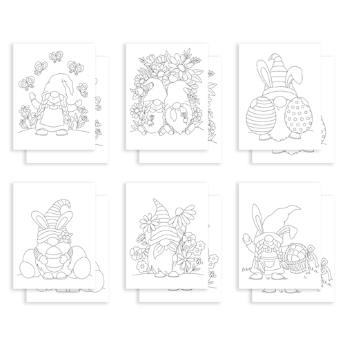 Simon Says Stamp Suzy's SPRING GNOMES Watercolor Prints sz0321sg Preview Image