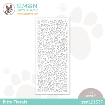 Simon Says Stamp Stencil BITTY FLORALS ssst121537