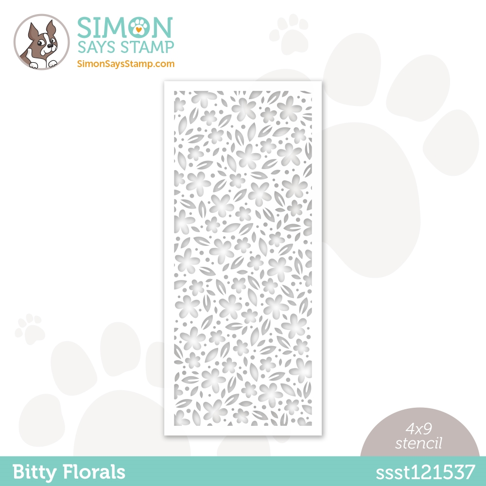 Simon Says Stamp Stencil BITTY FLORALS ssst121537 zoom image
