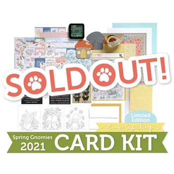 Limited Edition Simon Says Stamp SPRING GNOMIES 2021 Card Kit sssgck21