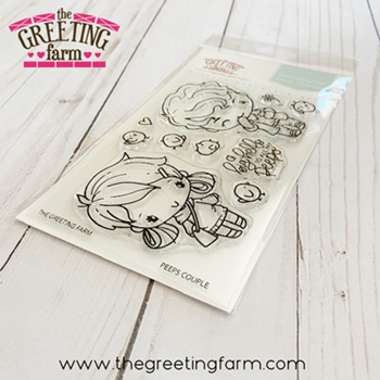 The Greeting Farm PEEPS COUPLE Clear Stamps tgf581