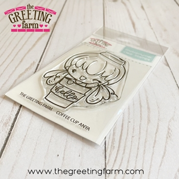 The Greeting Farm COFFEE CUP ANYA Clear Stamp tgf584