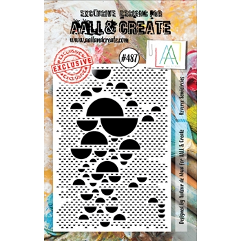 AALL & Create REVERSE SEMICIRCLES Clear Stamp aall487*