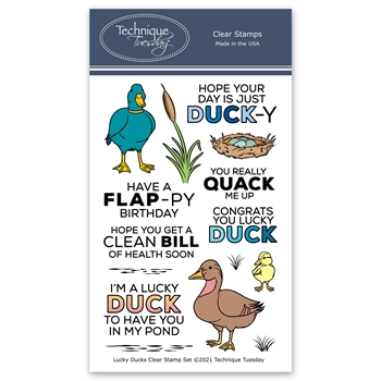 Technique Tuesday LUCKY DUCKS Clear Stamps 8872