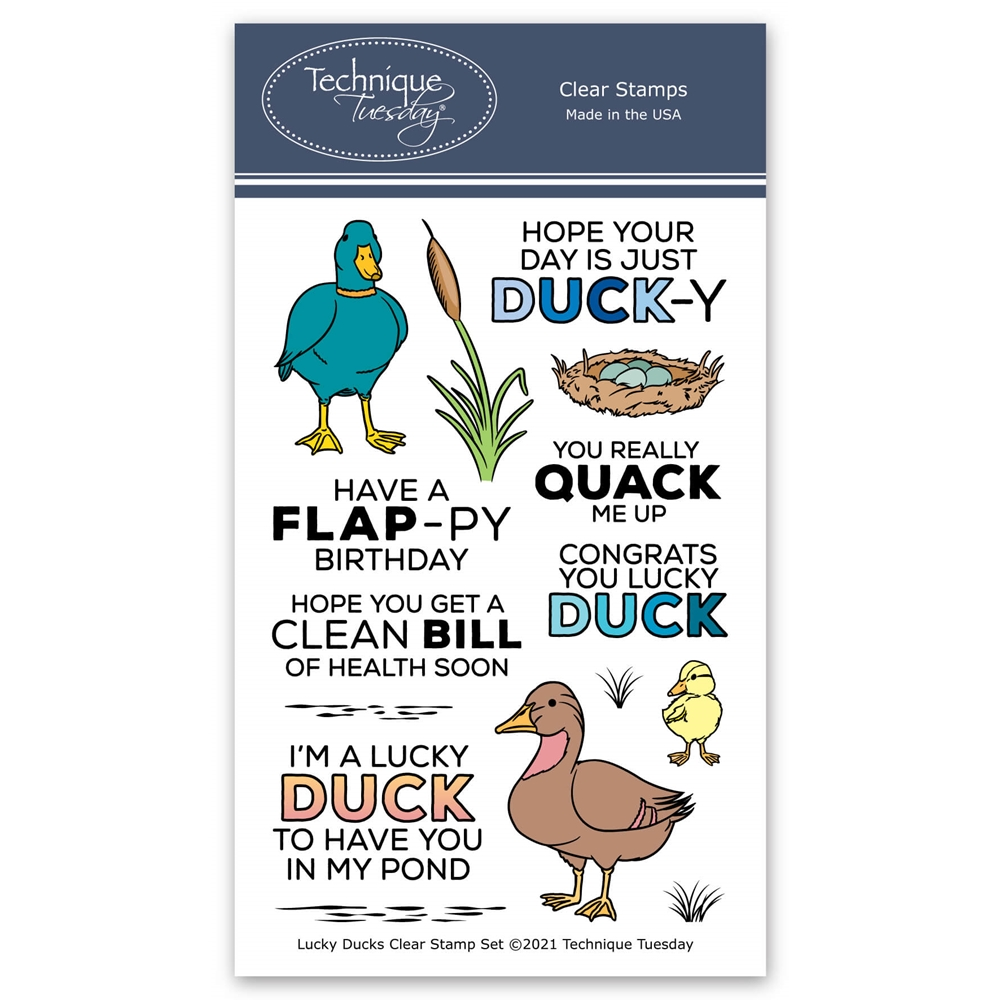 Technique Tuesday LUCKY DUCKS Clear Stamps 8872 zoom image