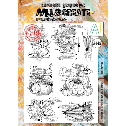 AALL & Create BASIC VEGGIES A4 Clear Stamp Set aall448  Preview Image