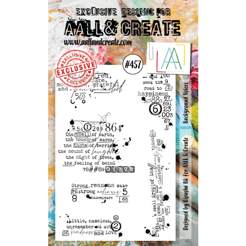 AALL & Create BACKGROUND VOICES A6 Clear Stamp Set aall457 Preview Image