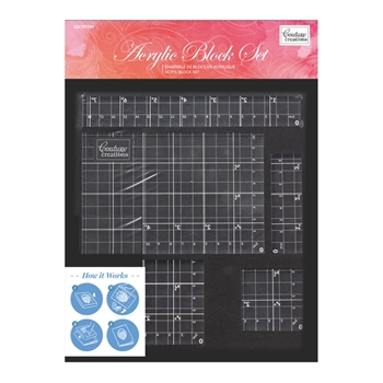 Couture Creations ACRYLIC BLOCK SET co727749