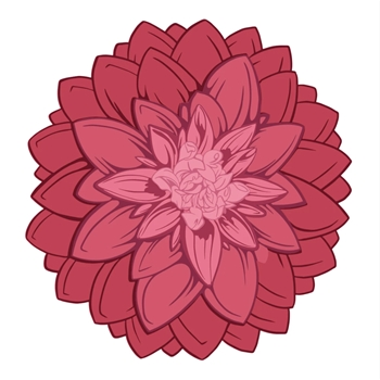 Couture Creations LAYERED BLOOMING FLOWER Stamp And Die Set co728110*