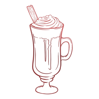 Couture Creations TALL HOT CHOCOLATE Mini Clear Stamp co728123
