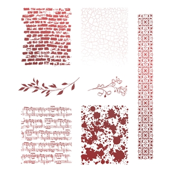 Couture Creations BACKGROUNDS AND BORDERS Clear Stamp co728129