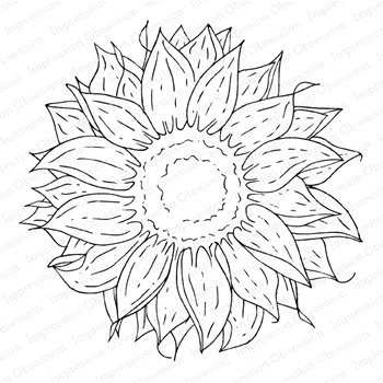 Impression Obsession Cling Stamp SUNFLOWERS H13972