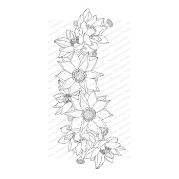 Impression Obsession Cling Stamp LOTUS SPRAY 3239 LG