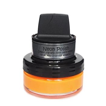 Cosmic Shimmer LAVA ORANGE Neon Polish With Applicator csnporange