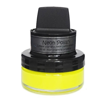 Cosmic Shimmer HAPPY YELLOW Neon Polish With Applicator csnpyellow