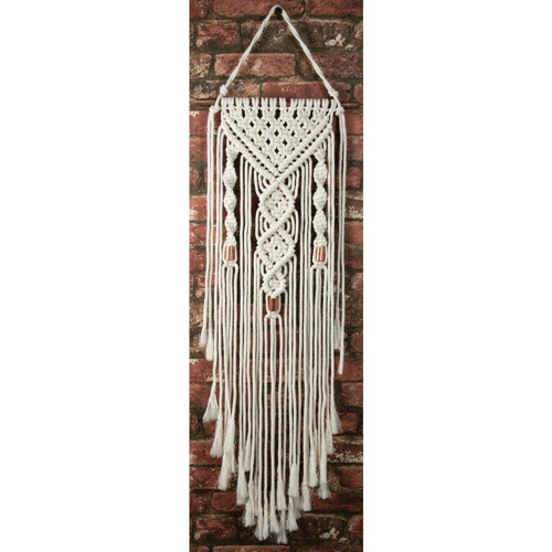 Solid Oak DUAL SPIRALS Macrame Wall Hanging Kit mwh003 Preview Image