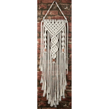 Solid Oak DUAL SPIRALS Macrame Wall Hanging Kit mwh003