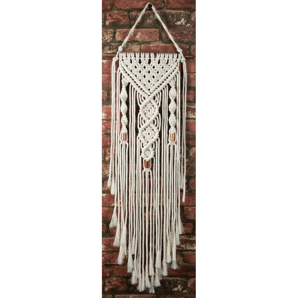 Solid Oak DUAL SPIRALS Macrame Wall Hanging Kit mwh003 zoom image
