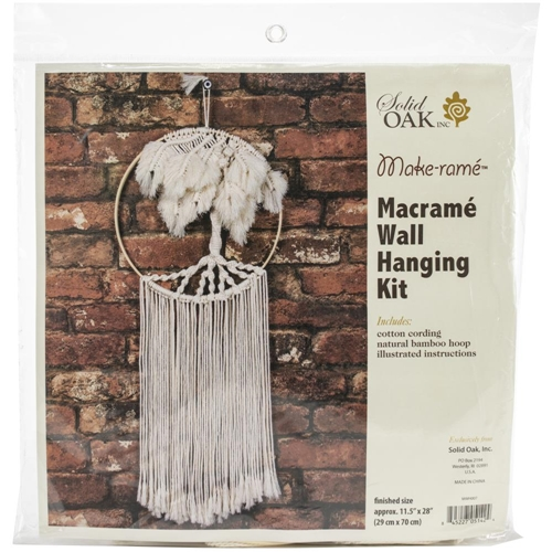 Solid Oak PALM TREE Macrame Wall Hanging Kit mwh007 Preview Image