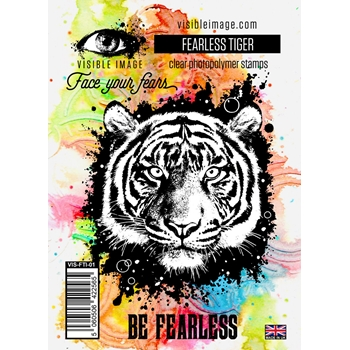 Visible Image FEARLESS TIGER Clear Stamps VIS FTI 01