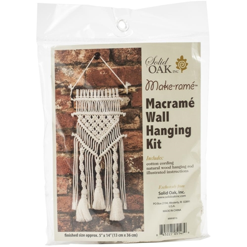 Solid Oak TASSELS AND TWISTS Macrame Wall Hanging Kit mwh016 Preview Image