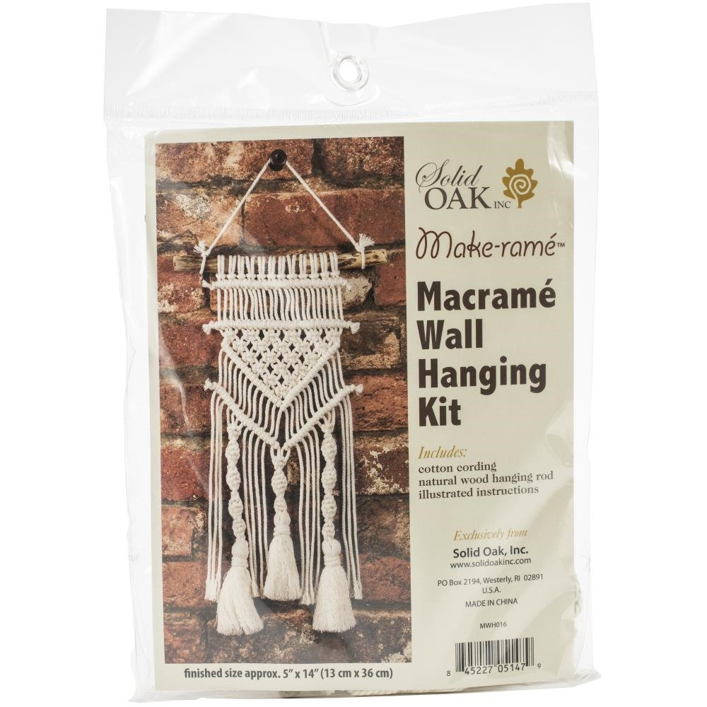 Solid Oak TASSELS AND TWISTS Macrame Wall Hanging Kit mwh016 zoom image