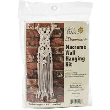 Solid Oak CELTIC BRAIDS Macrame Wall Hanging Kit mwh017