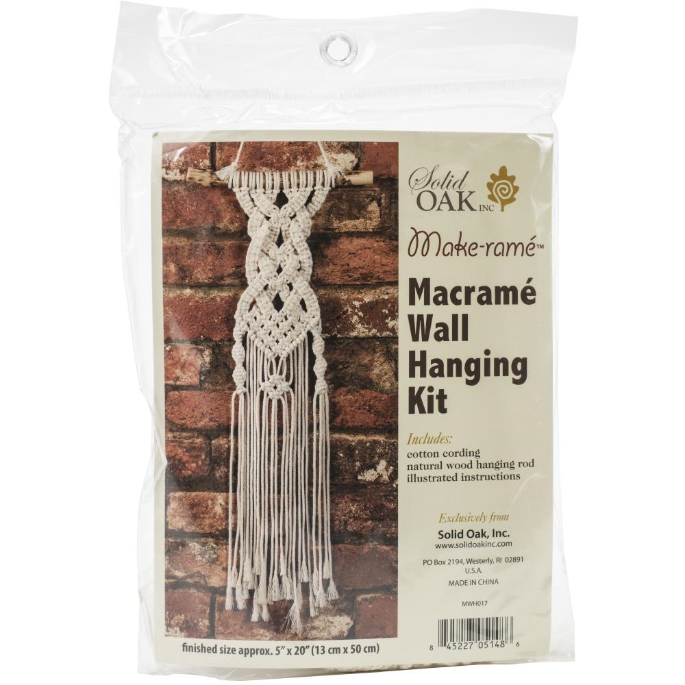 Solid Oak CELTIC BRAIDS Macrame Wall Hanging Kit mwh017 zoom image