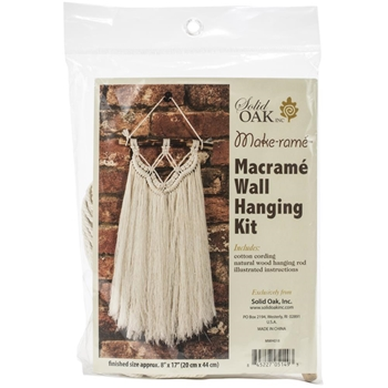 Solid Oak FRINGE Macrame Wall Hanging Kit mwh018