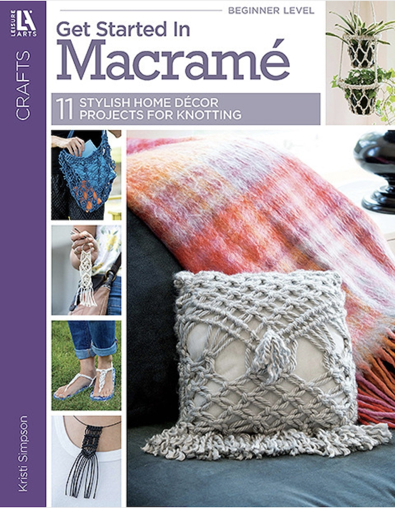 Leisure Arts GET STARTED IN MACRAME Book la69702 zoom image