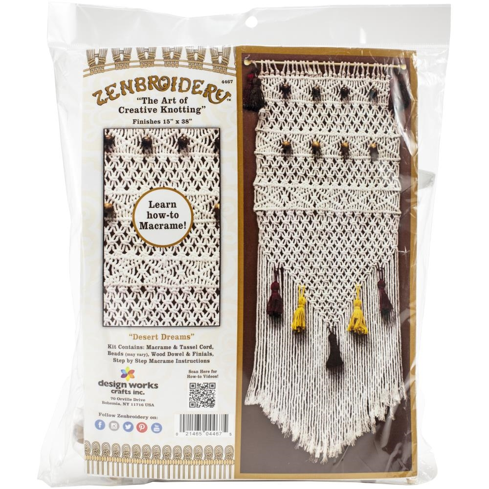 Zenbroidery DESERT DREAMS Macrame Wall Hanging Kit dw4467 zoom image