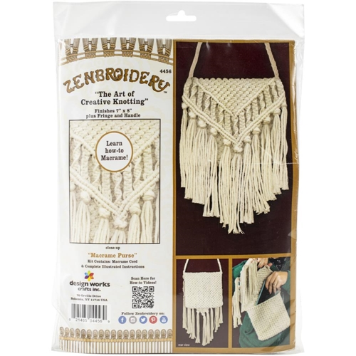 Zenbroidery PURSE Macrame Wall Hanging Kit dw4456 Preview Image