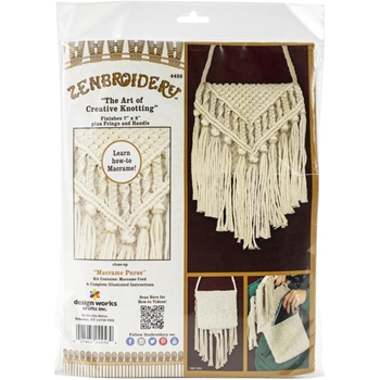 Zenbroidery PURSE Macrame Wall Hanging Kit dw4456
