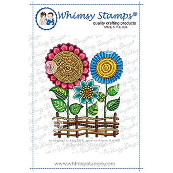 Whimsy Stamps ZEN GARDEN Cling Stamp DDB0056