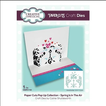 Creative Expressions SPRING IS IN THE AIR Paper Cuts Pop Up Die cedpc1152